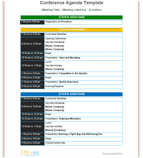 Professional Meeting Agenda Template  Agenda Templates