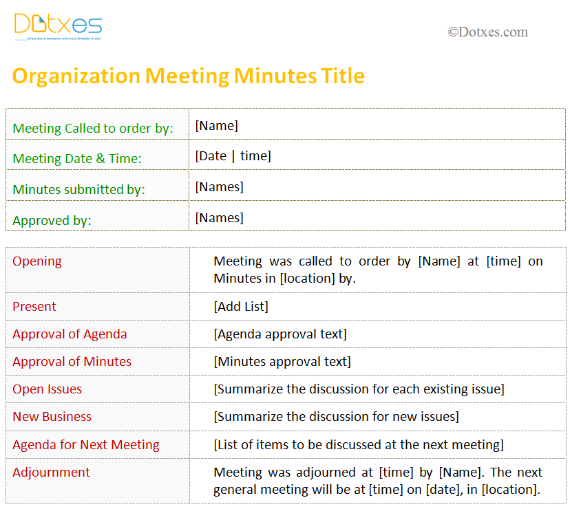 Printable-meeting-minutes-template-(For-Organization)