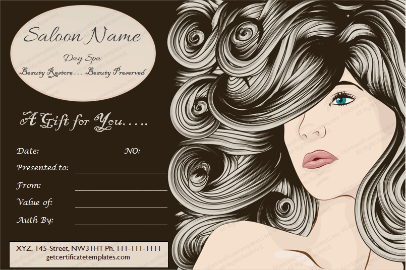 Chaps Saloon Gift Certificate Template