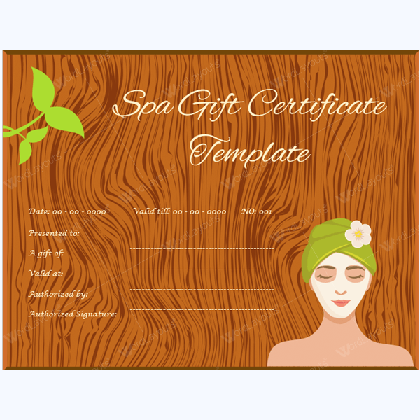This is an image of Superb Massage Gift Certificate Template Free Printable