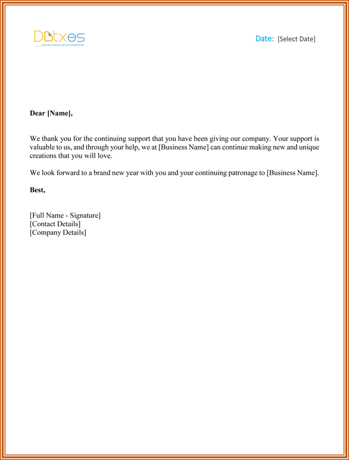 business thank you letters