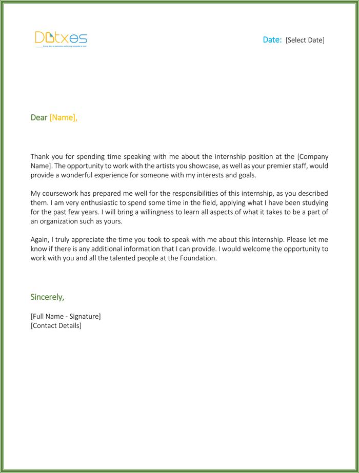 Internship Thank You Letter: 5 Letters You Should Consider Sending