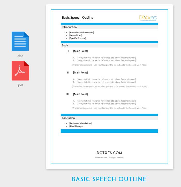 Basic Speech Outline Template