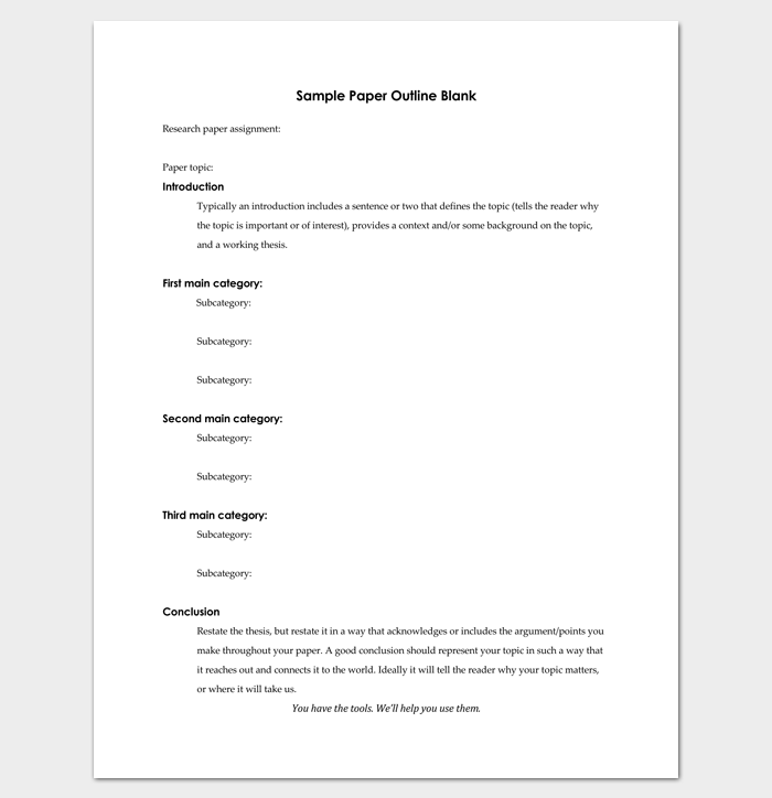 Research essay outline template