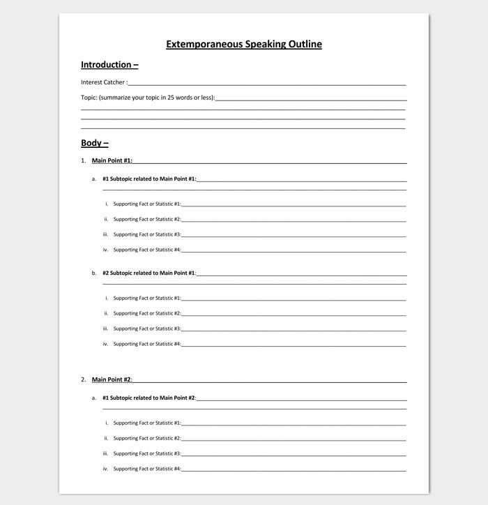Extemporaneous Speech Outline for PDF