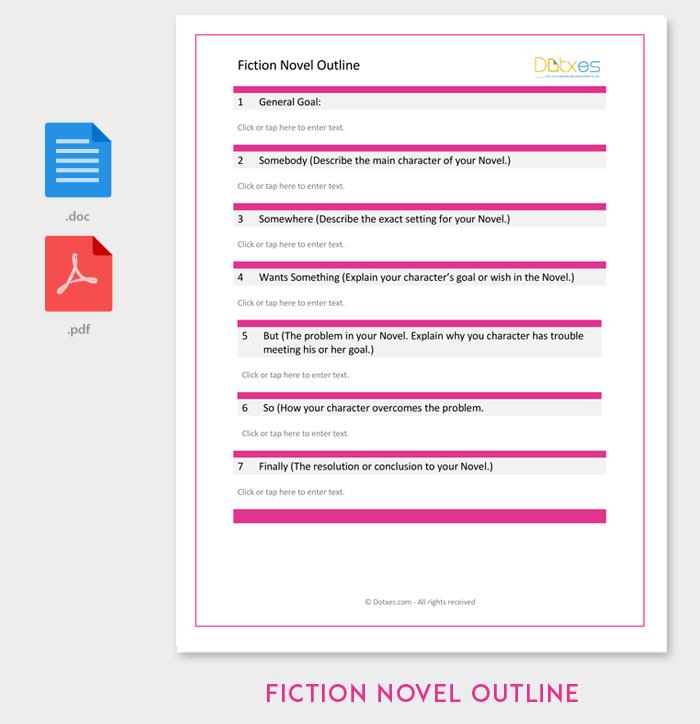 Modèle d'ensemble de roman de fiction