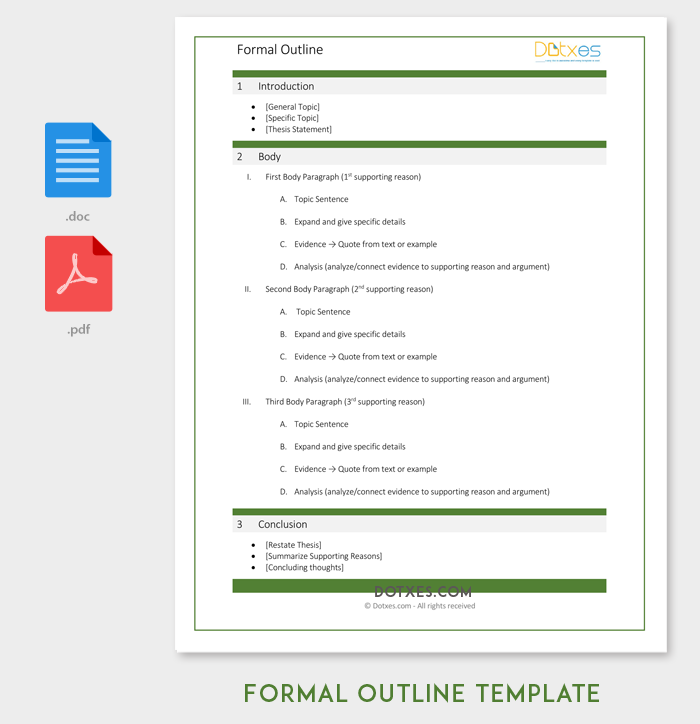 Formal Outline Template