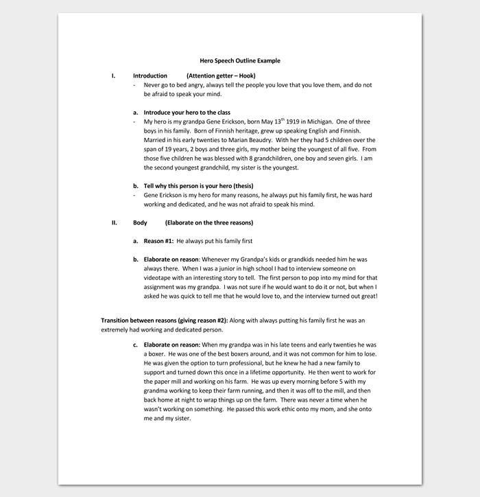 Hero Speech Outline for PDF