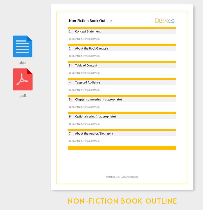 Modèle de contour de livre non-fiction