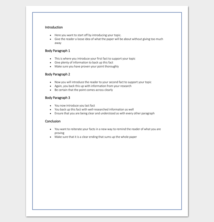 Research Paper Outline Template (High School)