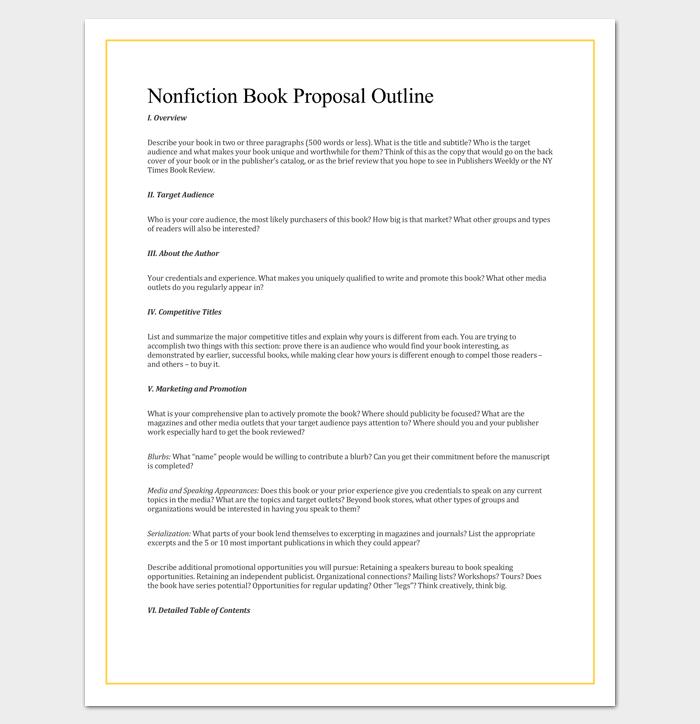non-fiction book outline template