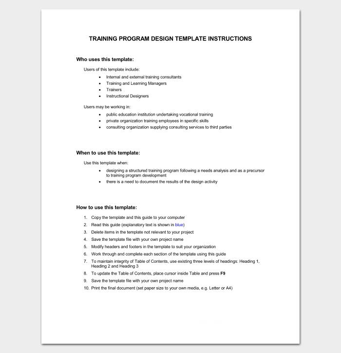 Training Program Outline (Plus How to Guide)
