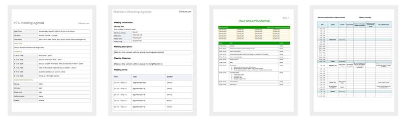 Agenda Outline Templates