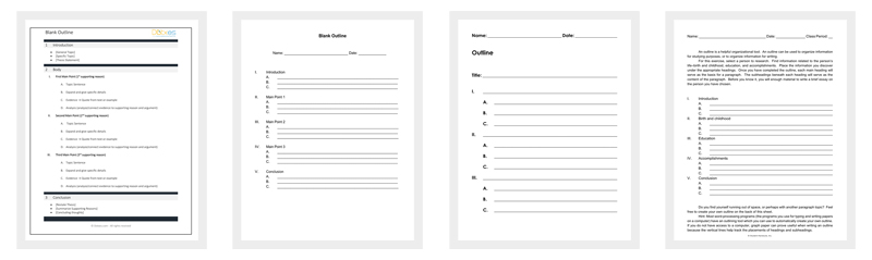 Blank Outline Template