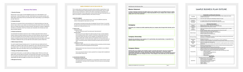 Business Outline Template