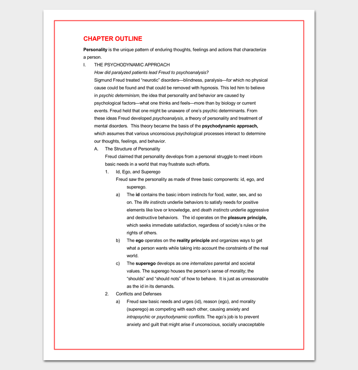 chapter outline template