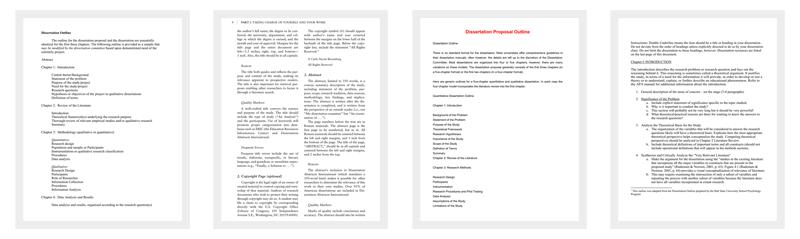 Dissertation Outline Template