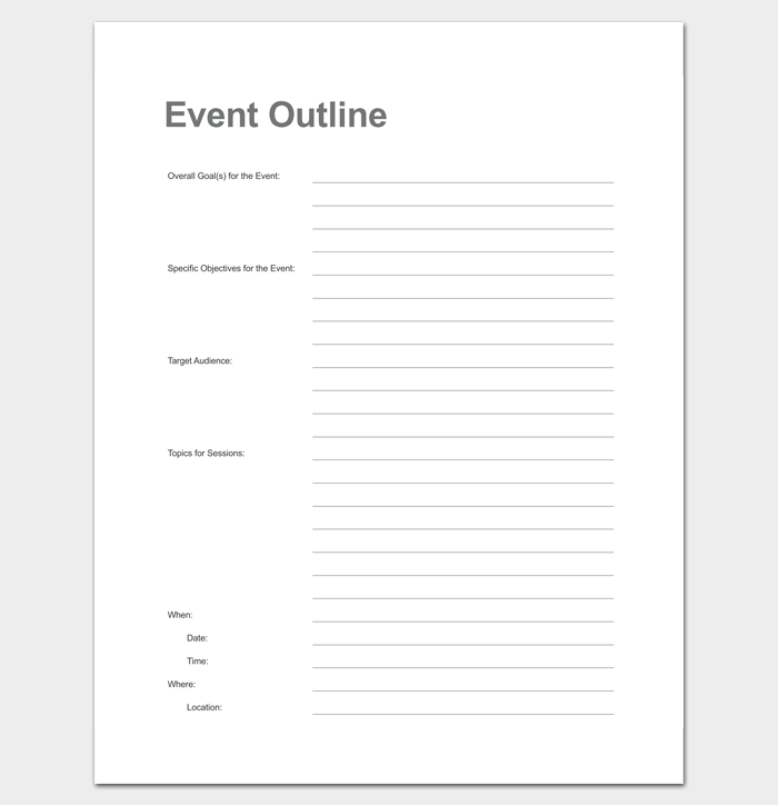 Event Program Outline & Guide