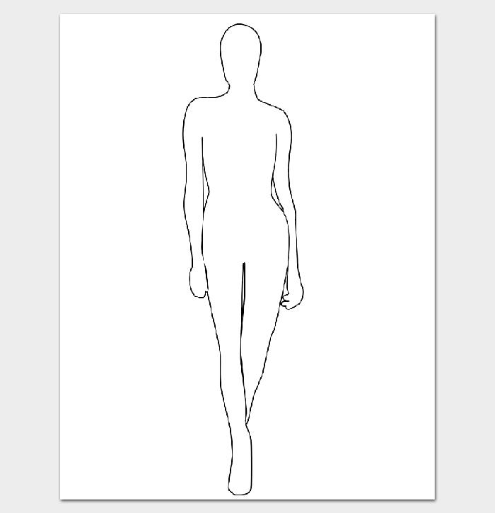 Female Fashion Body Outline