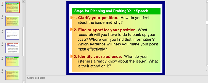 How to Plan and Draft Your Persuasive Speech (PowerPoint Slides)