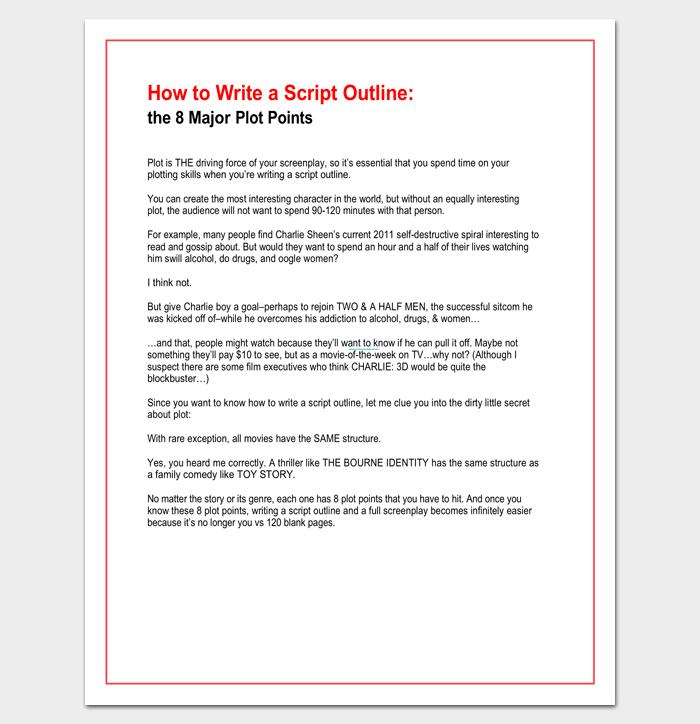 How to Write a Script Outline