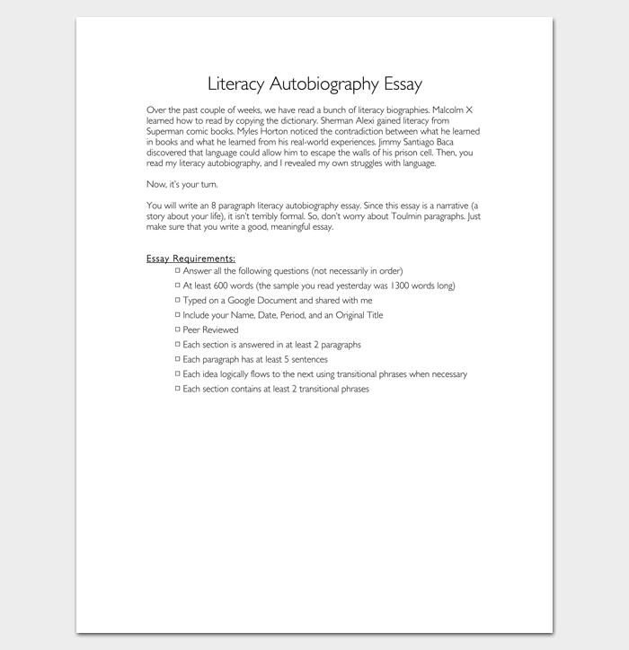 Essay literacy