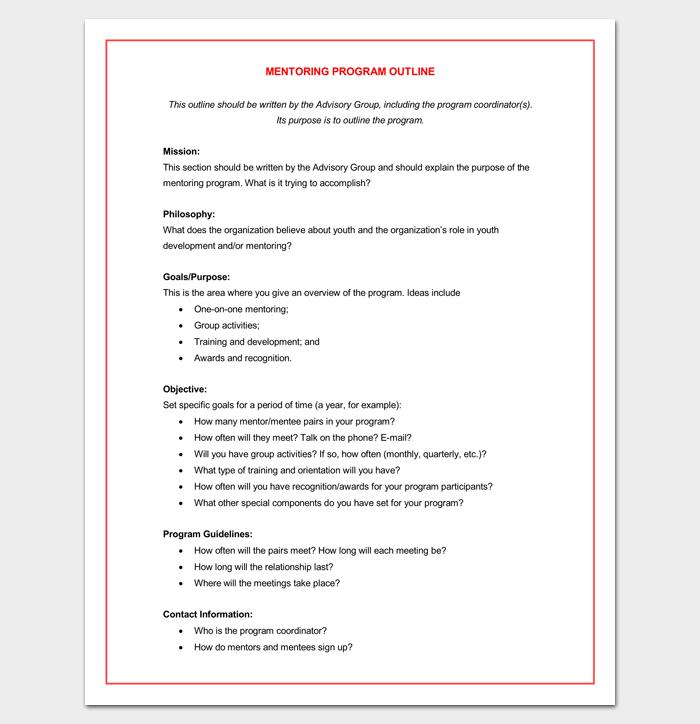 Mentoring Program Outline Word DOCMentoring Program Outline Word DOC