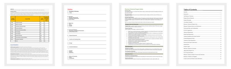 Pharmacy Technician Course Outline
