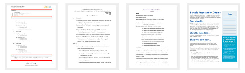 Presentation Outline Template
