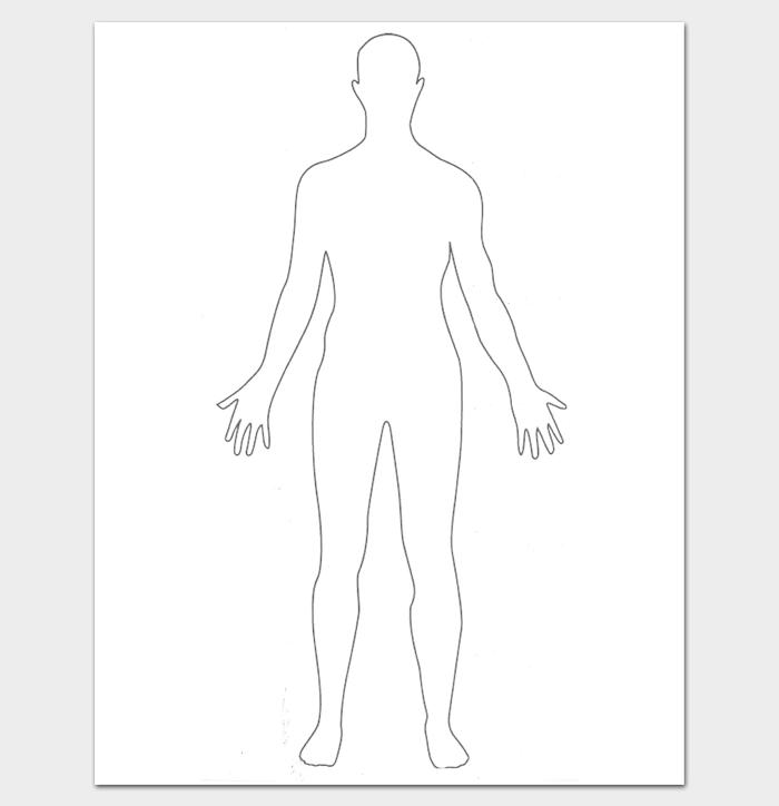 Printable Human Body Outline