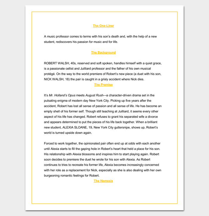 Screenplay Script Outline Format