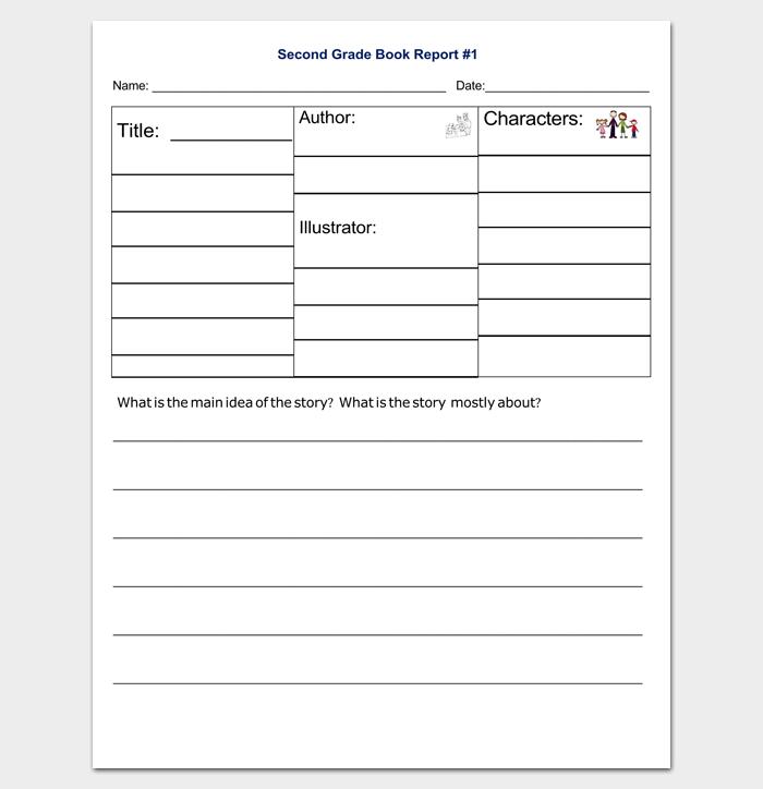 Second Grade Book Report Outline Format