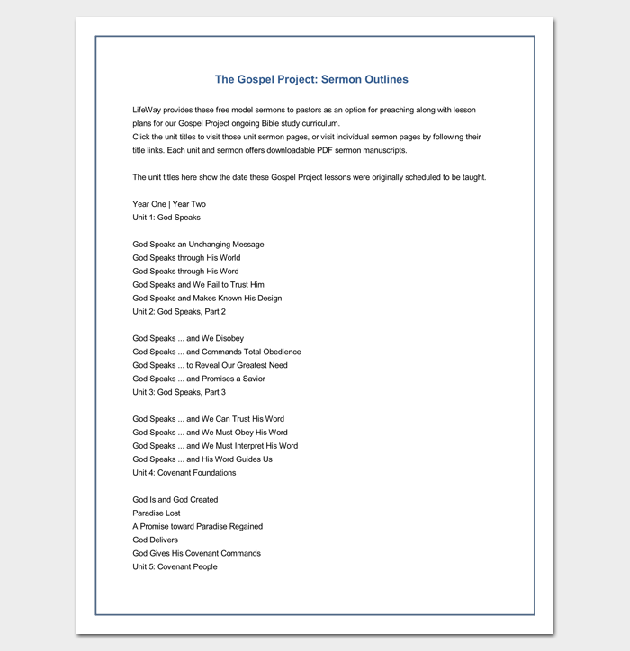 sermon outline template 12 for word and pdf format. Black Bedroom Furniture Sets. Home Design Ideas