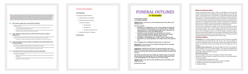 Sermon Outline Template