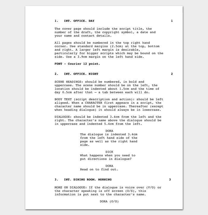 Short Film Outline Example