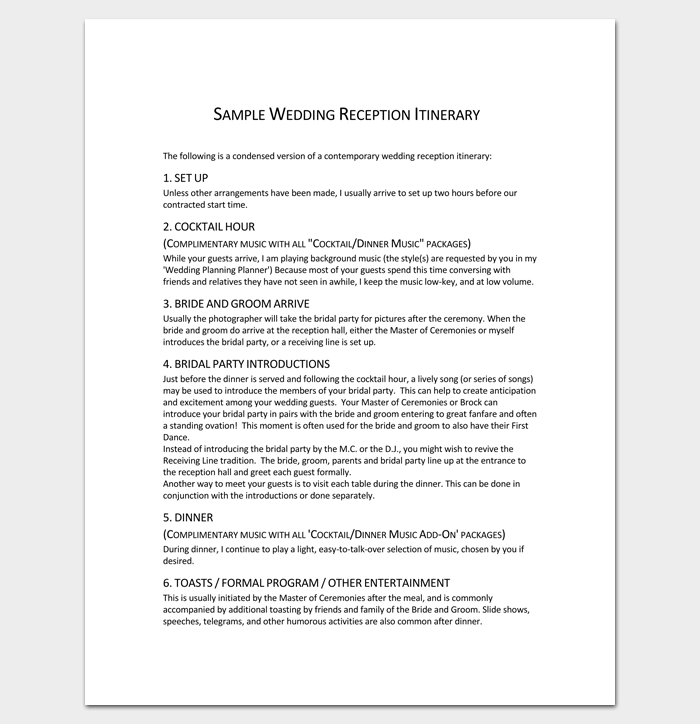 Program Outline Template - 18+ For Word & PDF Format