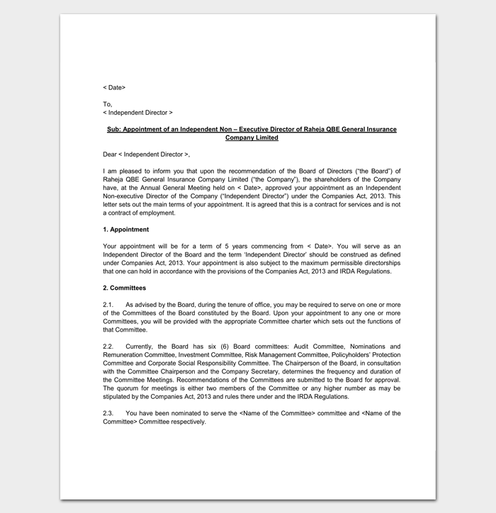 Company Appointment Letter 9 Docs For Word And Pdf Format