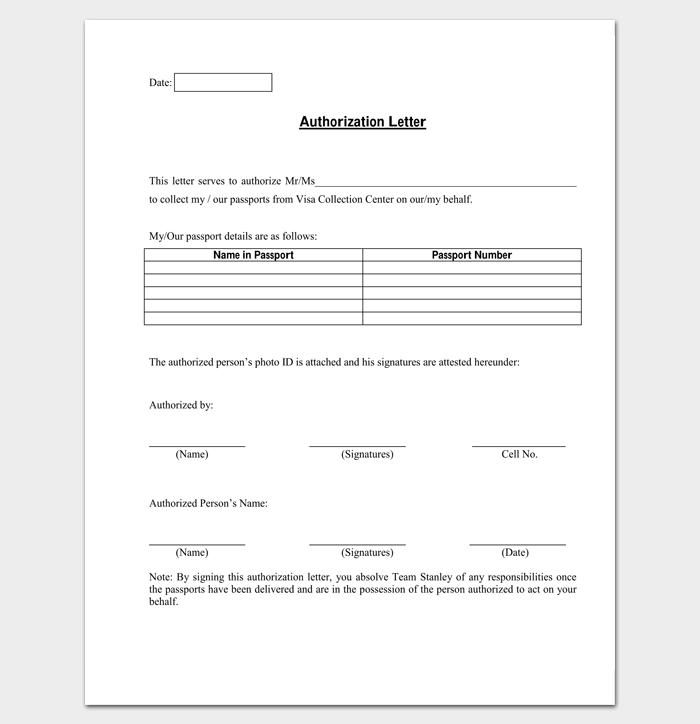 Claim Authorization Letter 1