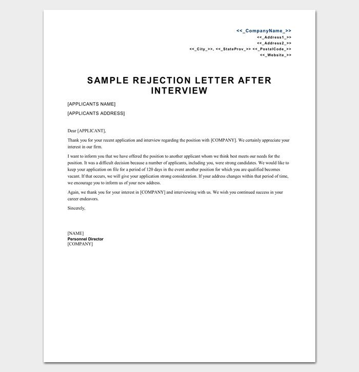 Claim Rejection Letter 1