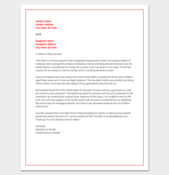 hardship letter for immigration example hardship letter template 10 for word pdf format 21332 | Hardship Letter for Immigration Word Doc