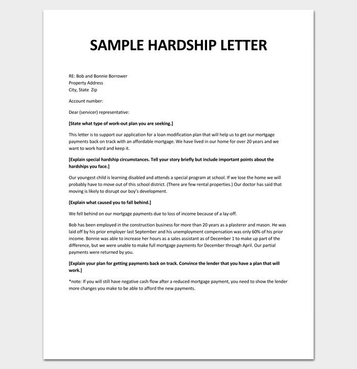 Hardship Letter for Loan Modification PDF 1