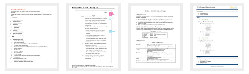 Research Outline Template