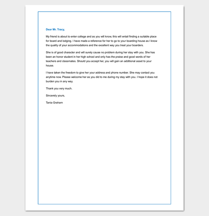 tenant letter template - 9  docs  samples  u0026 examples