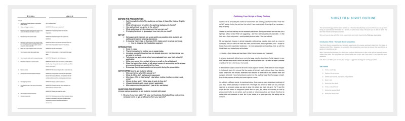 script outline template