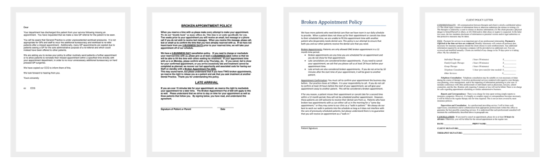 broken appointment letter template