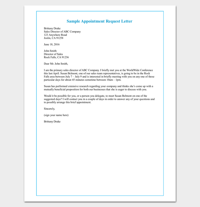 Client-Appointment-Request-Letter Sample Appointment Letter Template To Download on for school teacher, template copies furnished, for employee, contractors superintendent,