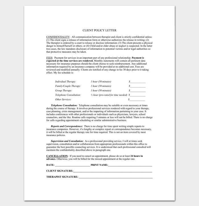 Client Broken Appointment Letter 1