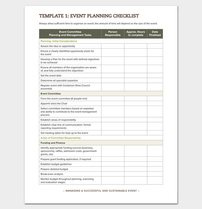Event Planning Checklist in PDF Format 1