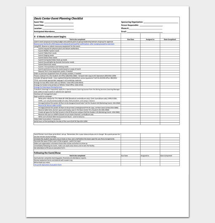 Event–Planning Worksheet 1