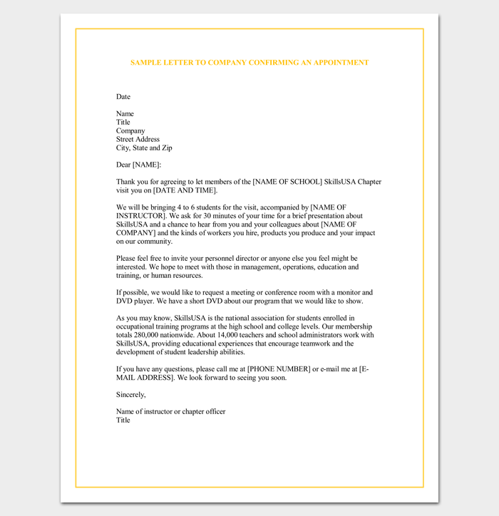 Sample Appointment Request Letter - 14+ Examples in Word,PDF